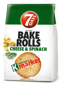 7 Days Bake Rolls Cheese & Spinach 80 g